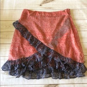 NWT free people overlay skirt size 10